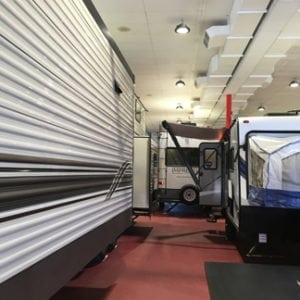 Premise LED High Bay in RV Showroom