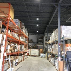 Premise LED High Bay in Warehouse