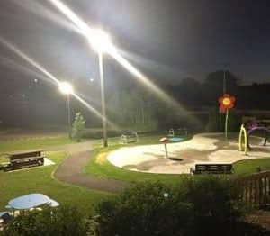 Premise LED Flood Lights in Park
