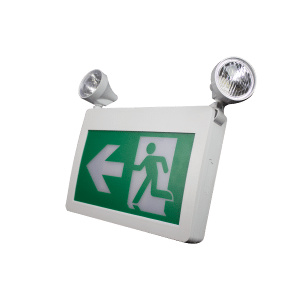 Premise LED Self Powered Combination Running Man Exit Sign Plastic
