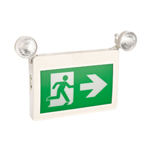 SELF-POWERED COMBINATION LED RUNNING MAN EXIT SIGN (THERMOPLASTIC)
