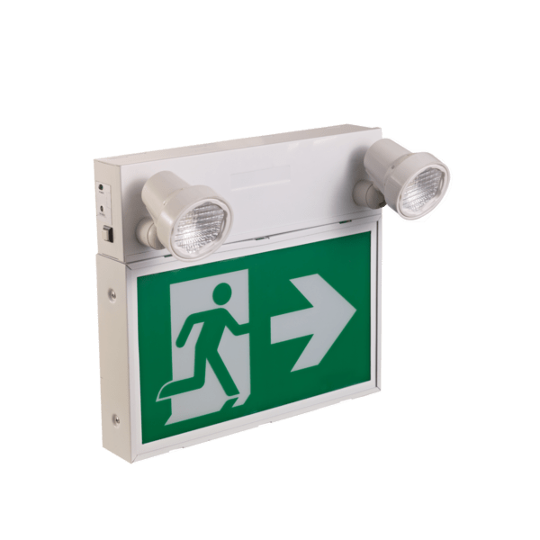 SELF-POWERED COMBINATION LED RUNNING MAN EXIT SIGN