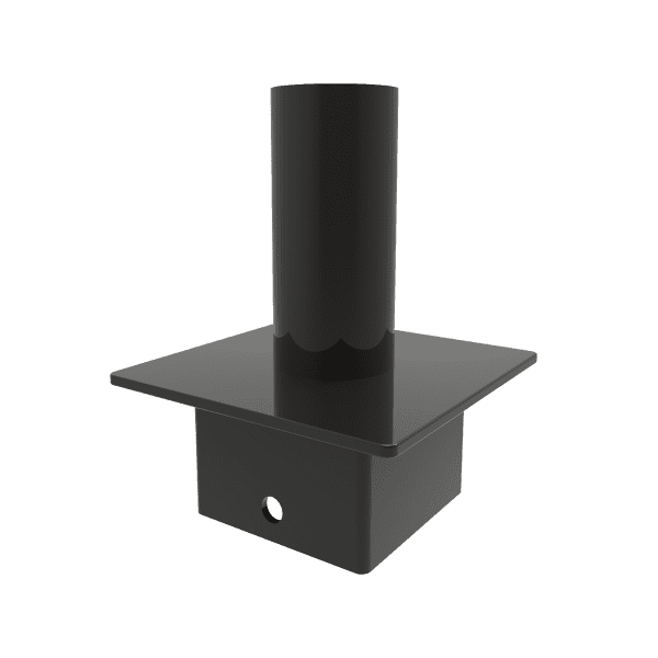 "TENON ADAPTER, FOR 5"" SQUARE POLES"